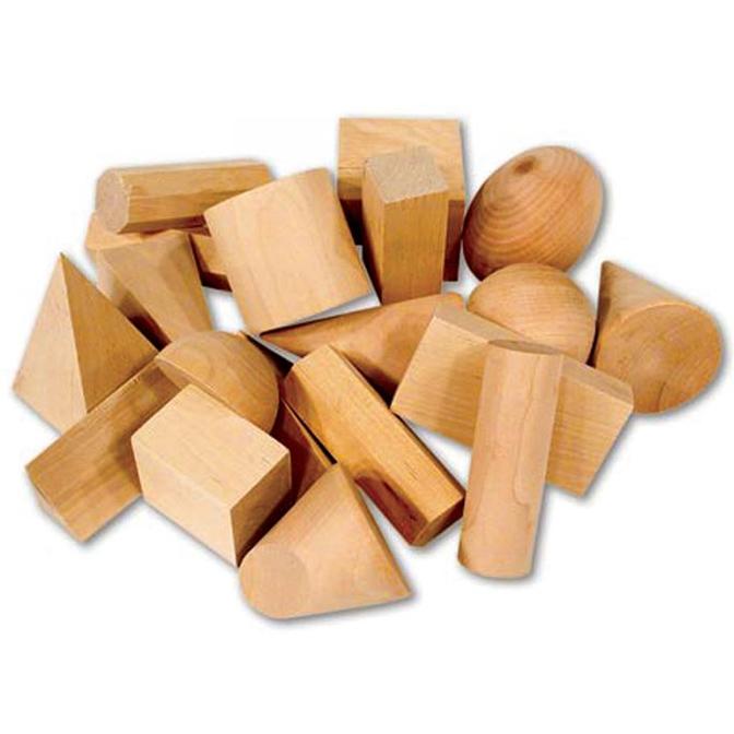 Geometrijska telesa – lesena